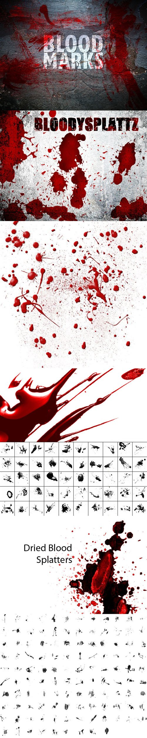 200+ Blood Brushes Collection for Photoshop