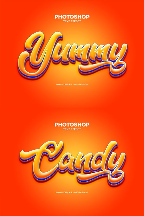 Yummy Text Effect for Photoshop