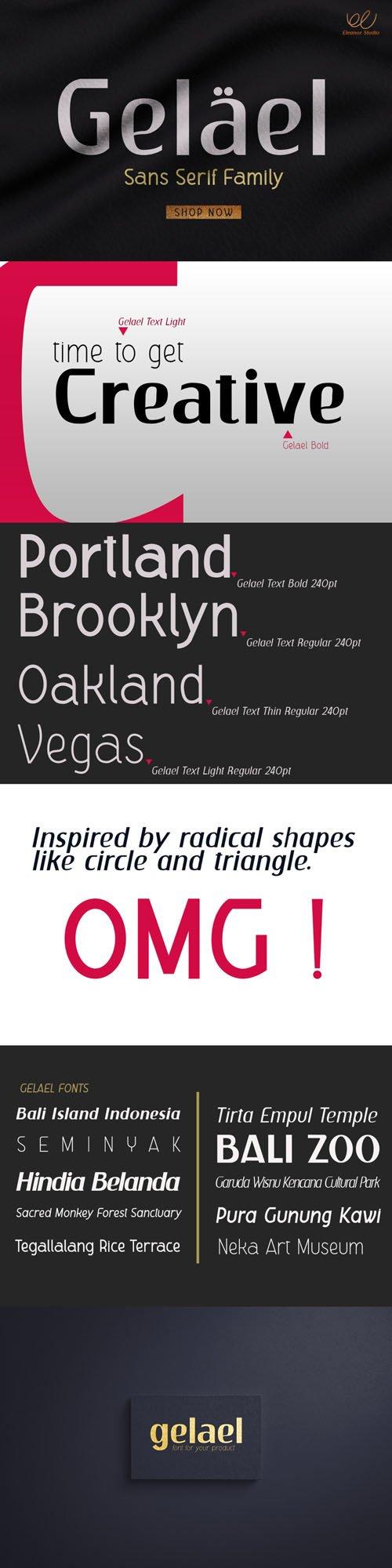 Gelael - Creative Sans Serif Font Family [2-Weights]