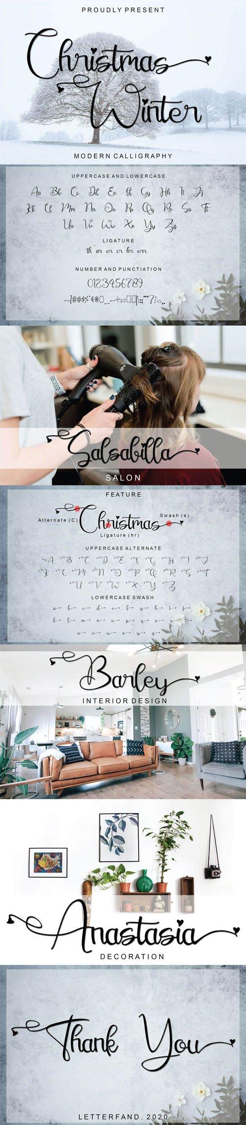 Christmas Winter - Modern Calligraphy Font