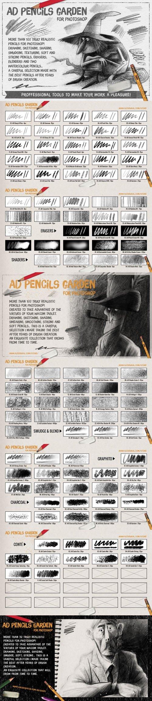 The Pencils Garden for Photoshop