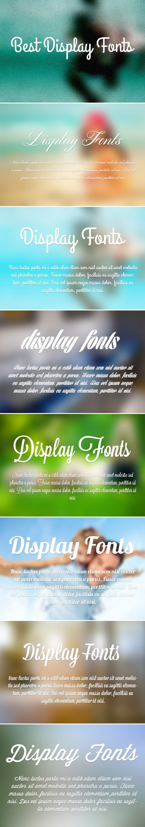 Best 7 Display Fonts Collection for Designers