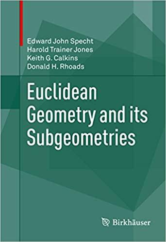 Euclidean Geometry and its Subgeometries [True PDF]