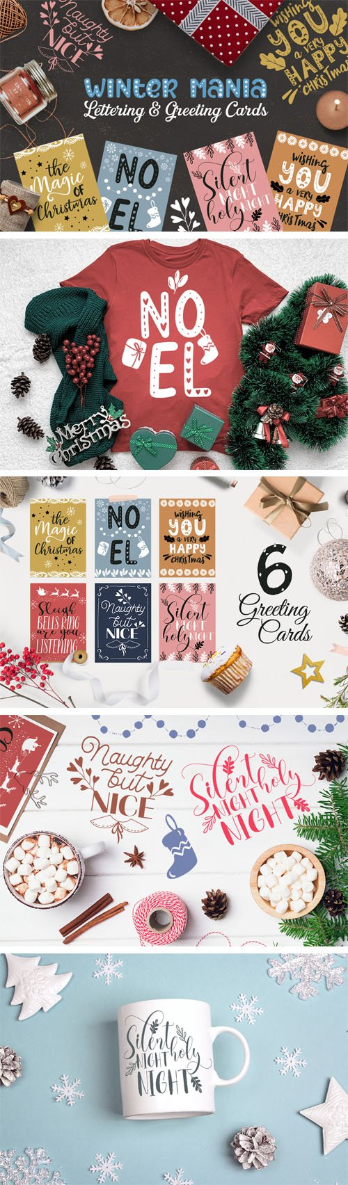 Winter Mania - Lettering and Greeting Cards