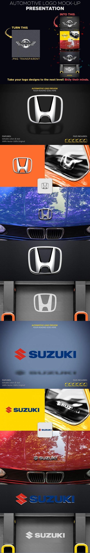 Automotive Logo PSD Mockup Presentation