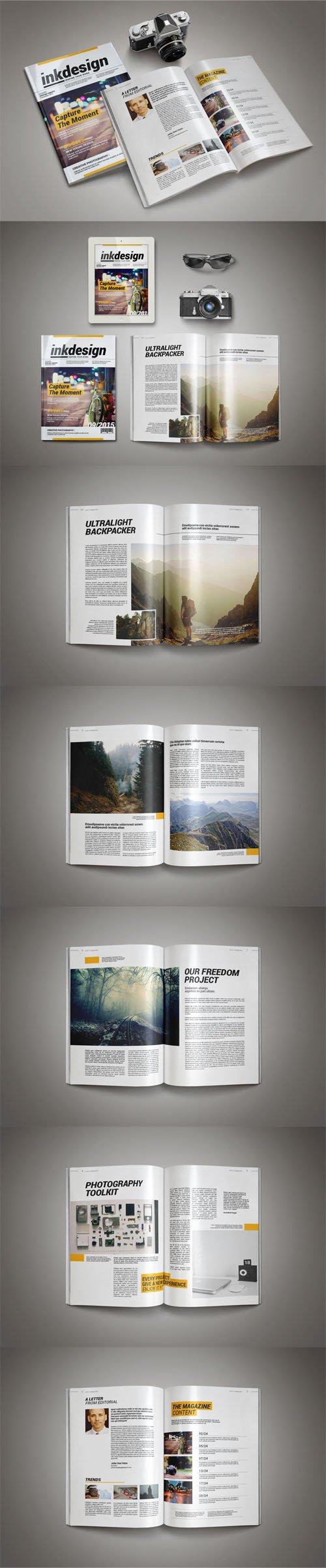 InkDesign Magazine INDD Template for InDesign