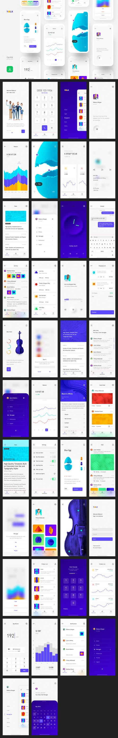 Yolk - iOS UI Kit for Sketch