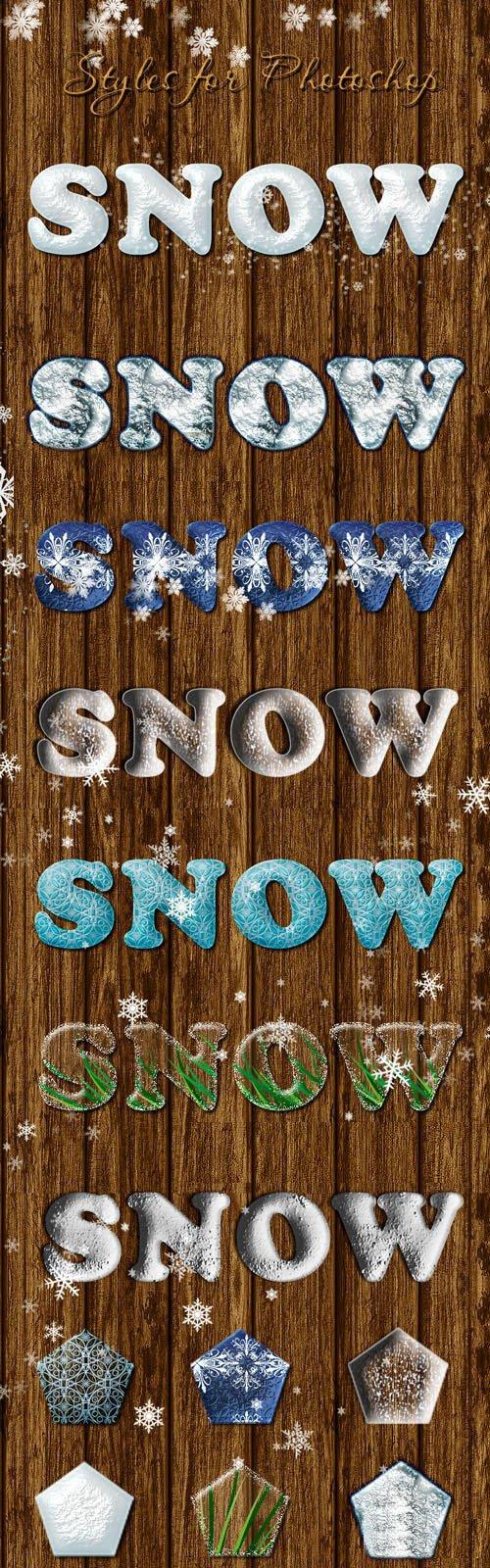Snow & Winter - 6 Photoshop Styles