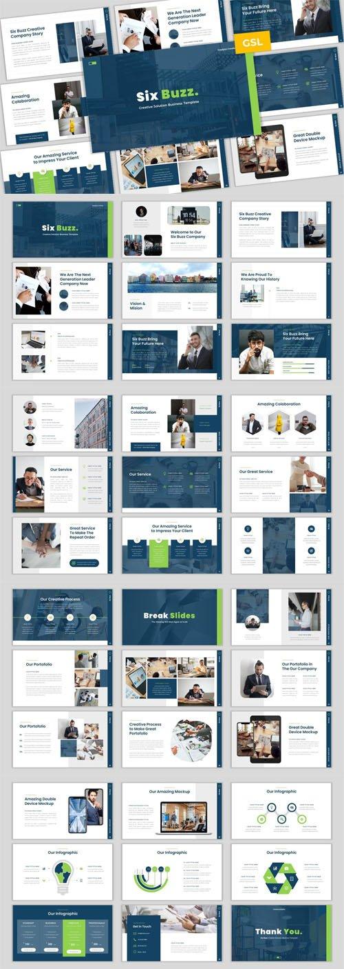 Six Buzz - Creative Business Google Slides PPTX Template