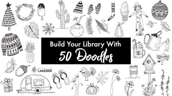 Build Your Own Doodle Library: 50 Unique Doodle Ideas that ANYONE can draw! Doodle with me!!