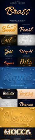 Editable font effect text collection illustration design 241