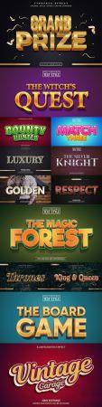 Editable font effect text collection illustration design 247