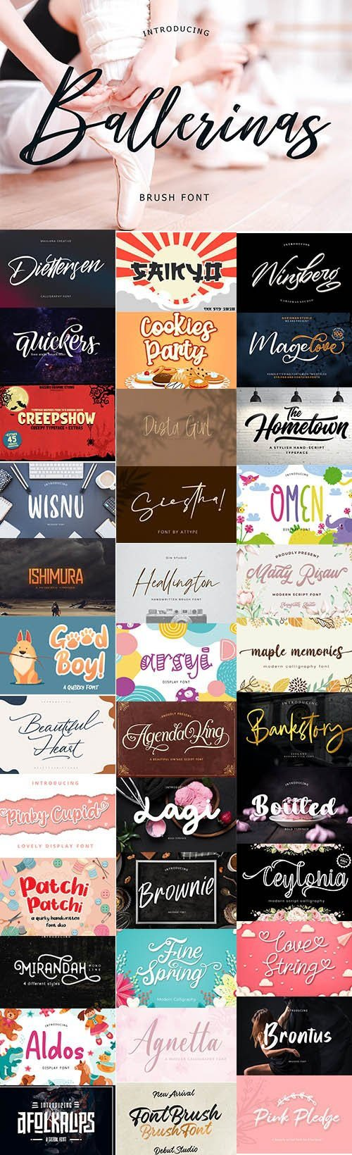 37 Super Creative Fresh Fonts