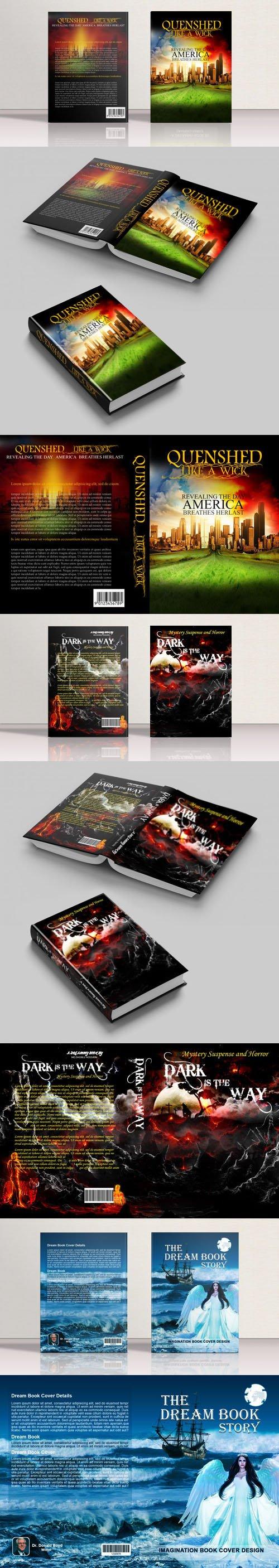 Suspense Historical & Story Book Cover Design PSD Templates