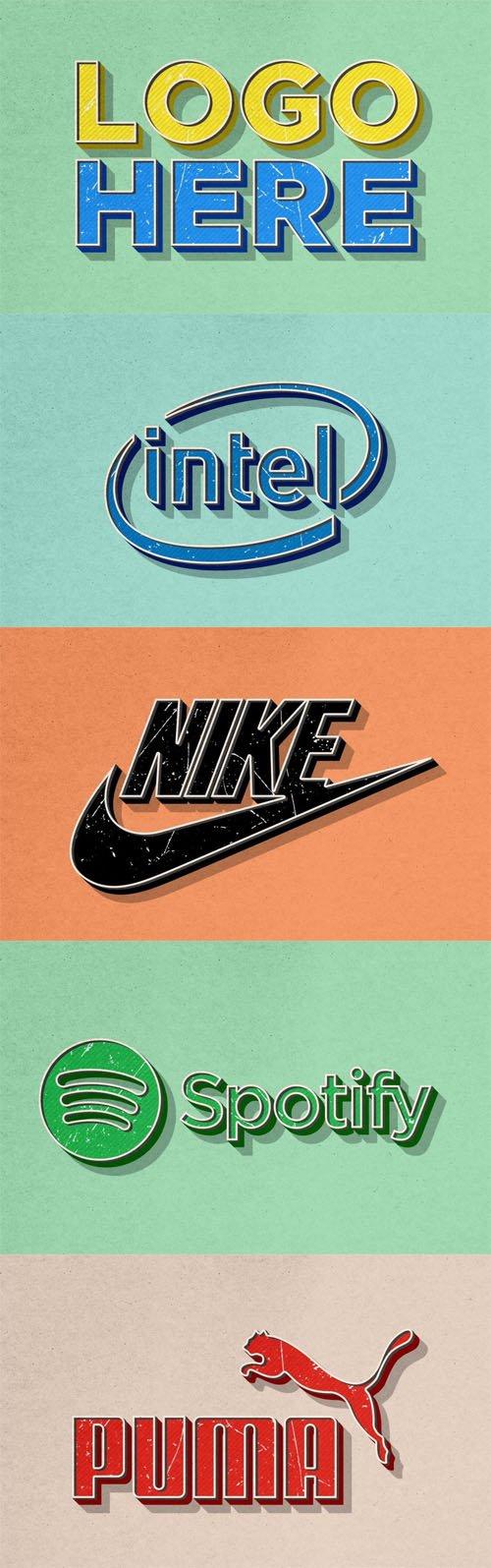 Vintage Effect Logo PSD Mockups