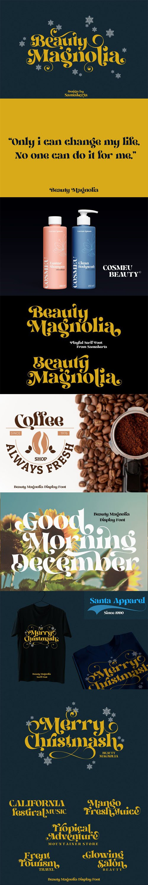 Beauty Magnolia Display Font