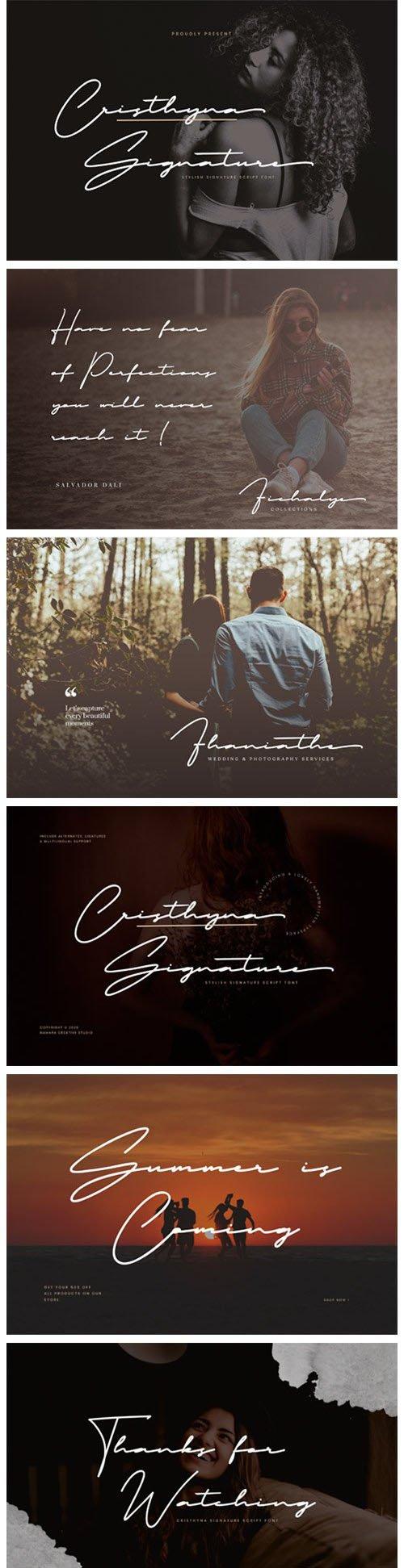 Cristhyna Signature - Handwritten Script Font