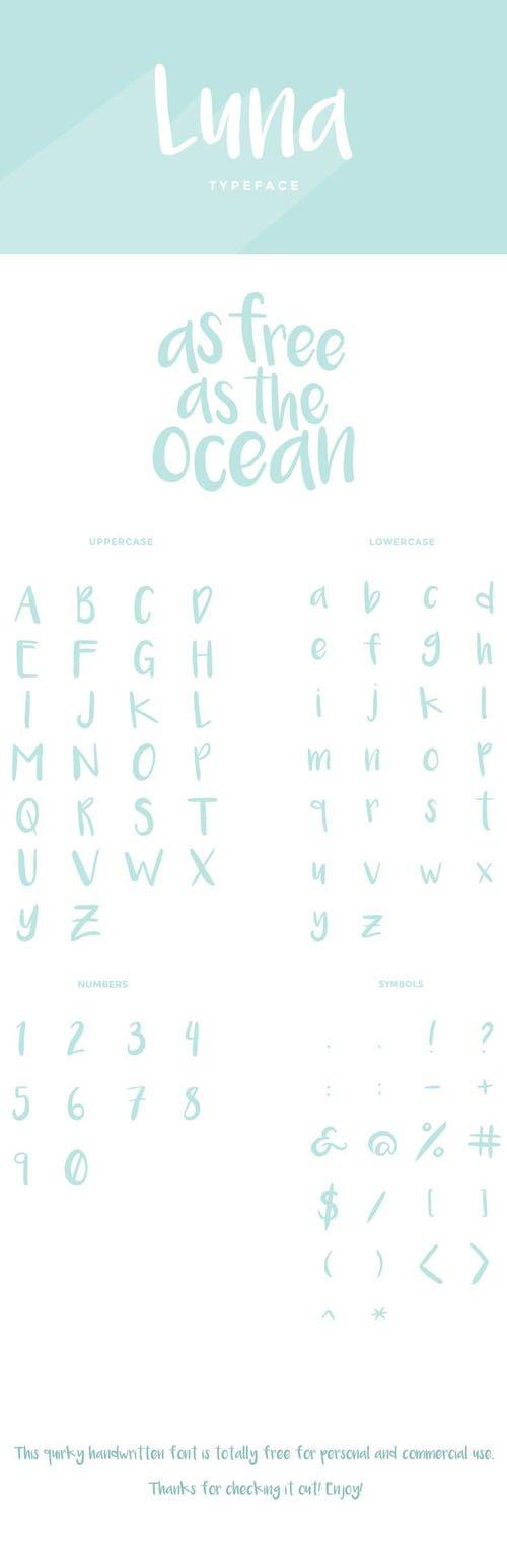 Luna Brush Typeface