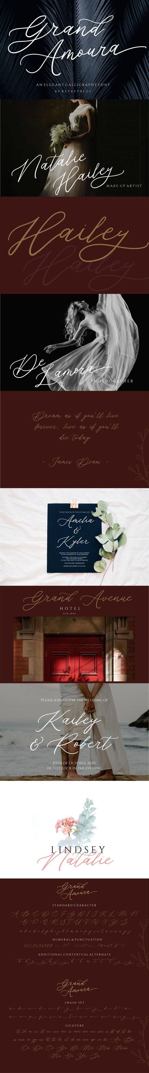Grand Amoura - Elegant Calligraphy Font
