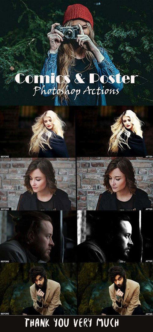 Comics & Poster Photoshop Actions