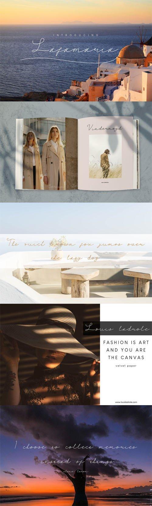 Lafamaria Handwritten Font
