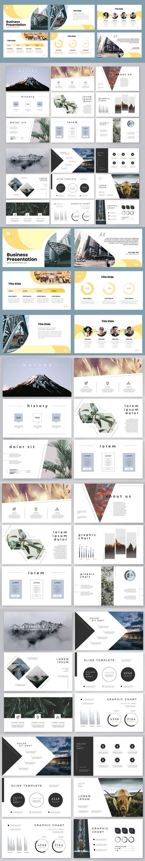 24 Business Presentation Slides Vectors Templates