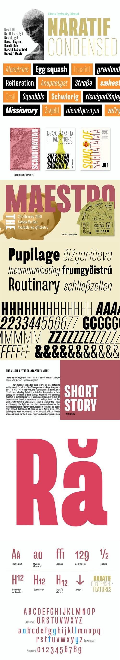 Naratif Condensed Display Font [2-Weights]