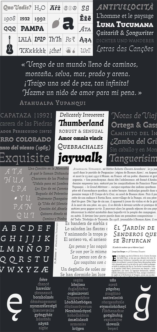 Pampatype Foundry - Atahualpa Font Family [12-Weights]