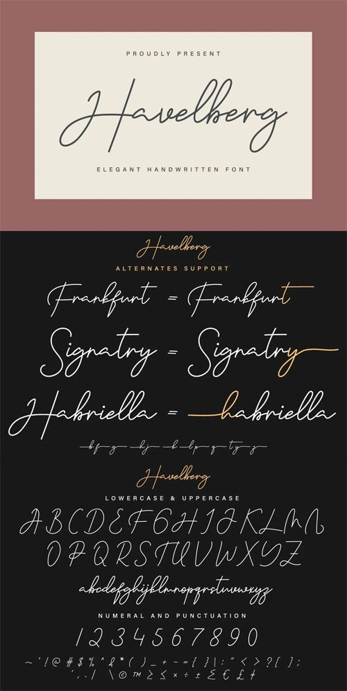 Havelberg - Elegant Handwriting Signature Font