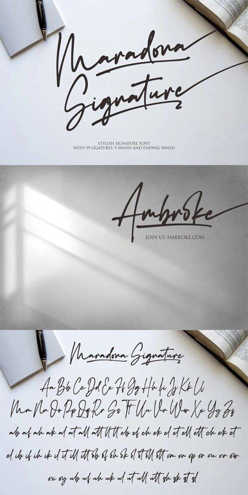 Maradona - A Stylish Signature Script Font