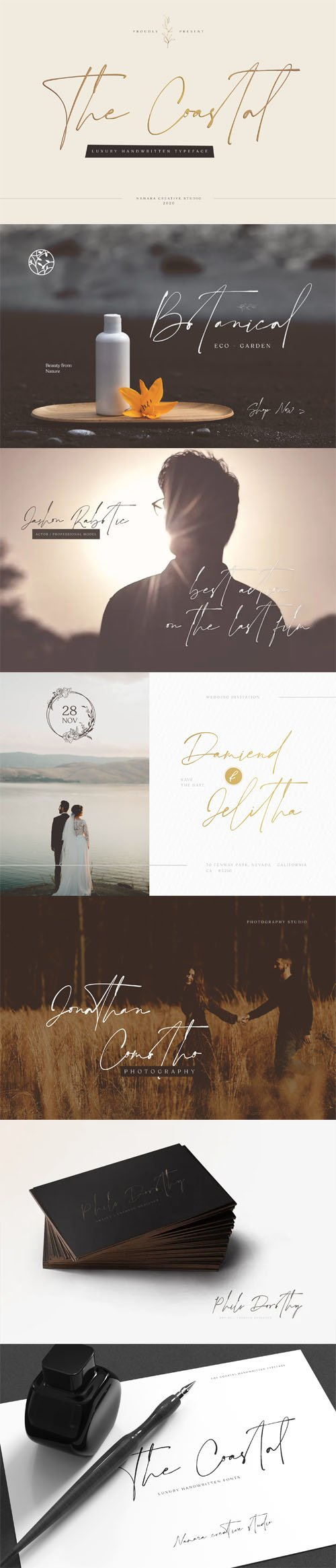 The Coastal - Luxury Handwritten Script Font