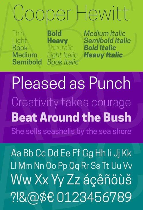 Cooper Hewitt - Sans Serif Font Family  [14-Weights]