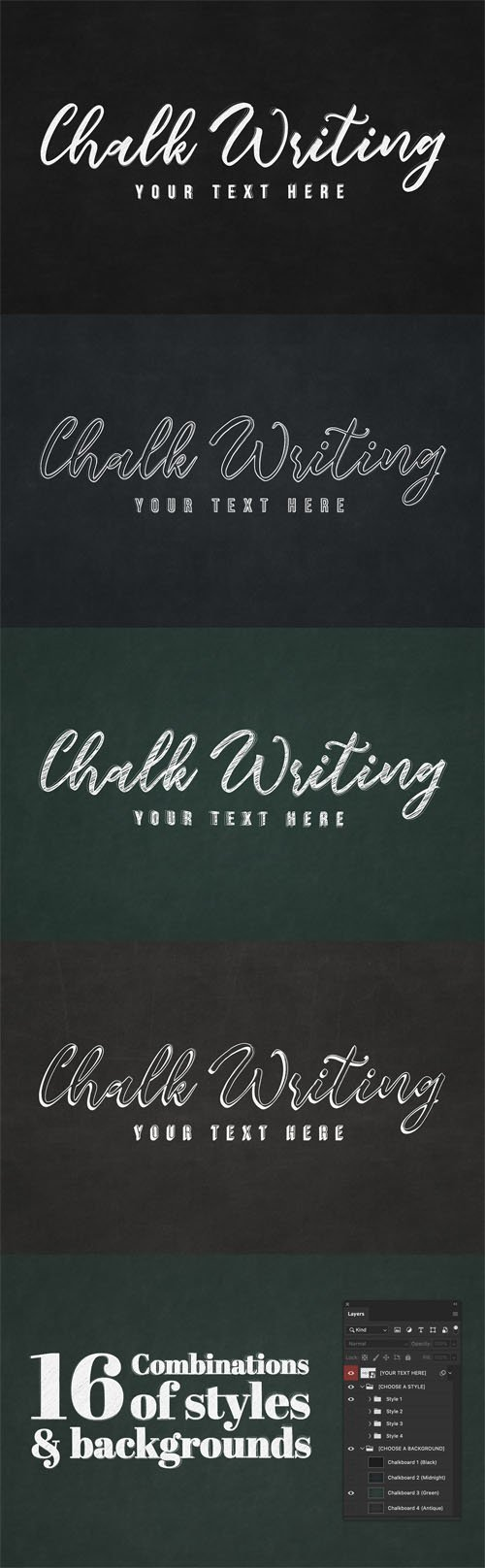 Chalk Writing - 4 Photoshop Text Effects
