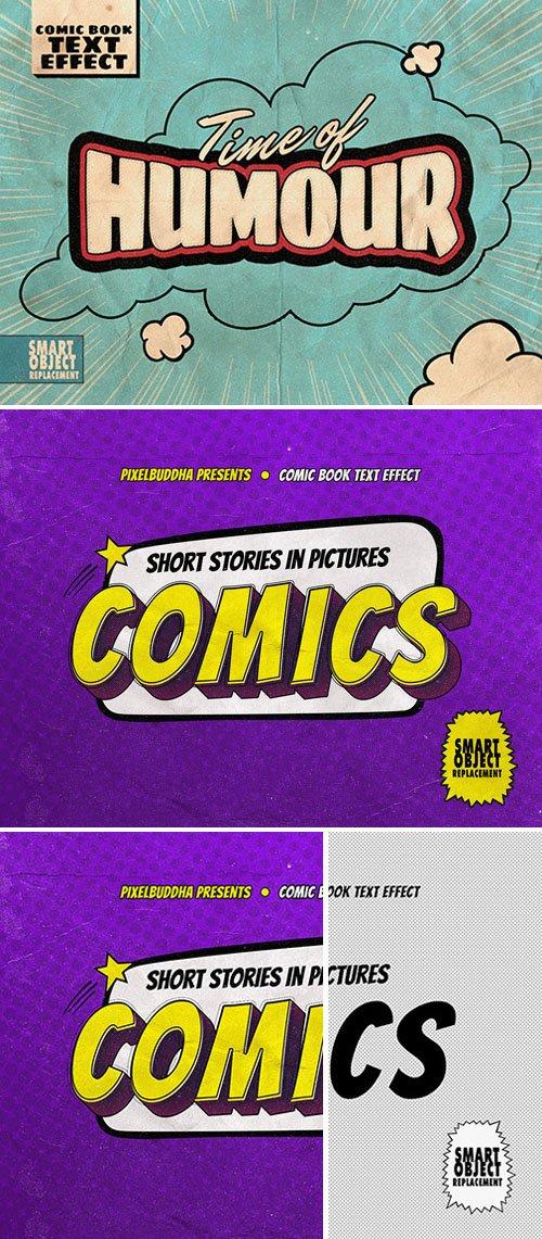 Comic Book Text Effect PSD Template