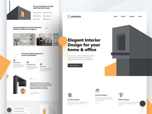 Architecture Figma Web Template
