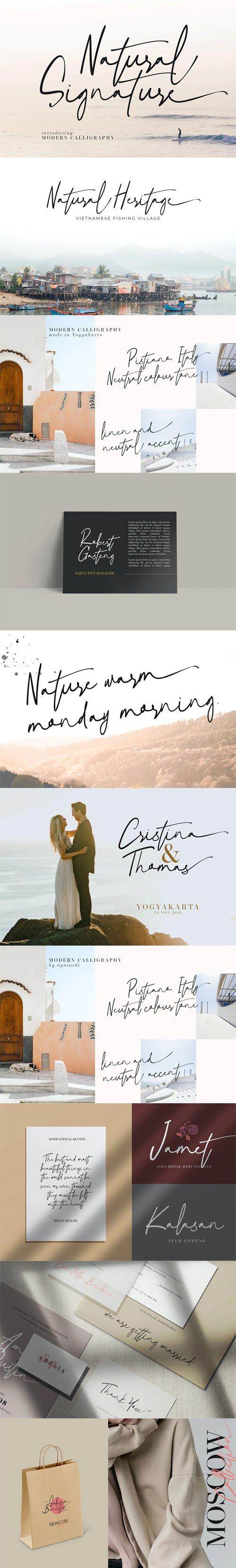 Natural Signature - Modern Calligraphy Script Font