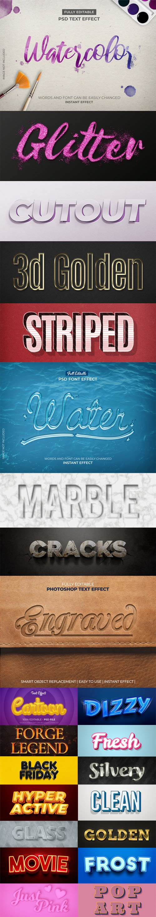 23 Text Styles - PSD Text Effects Collection