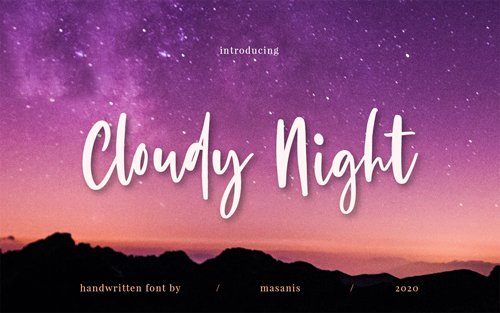 Cloudy Night - Stylish Handwritten Font