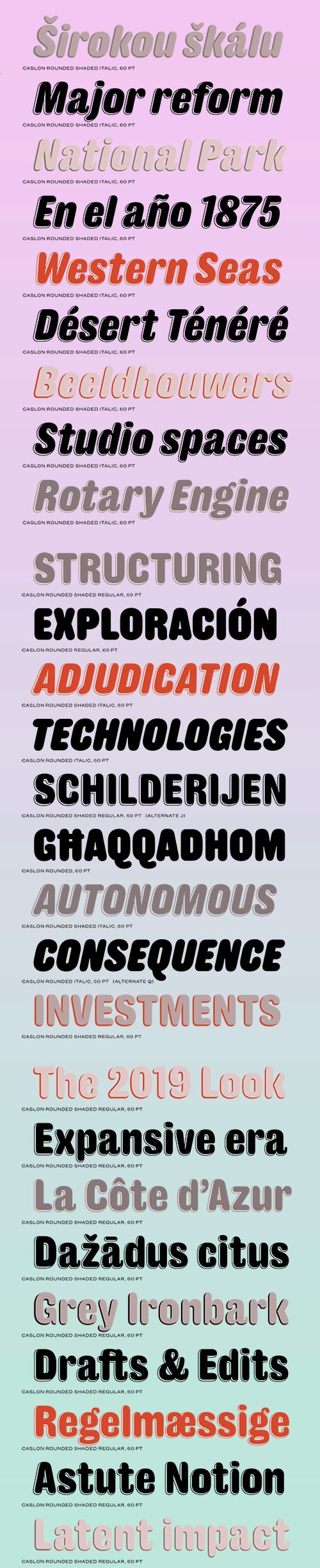Caslon Rounded Font Family [8-Weights]