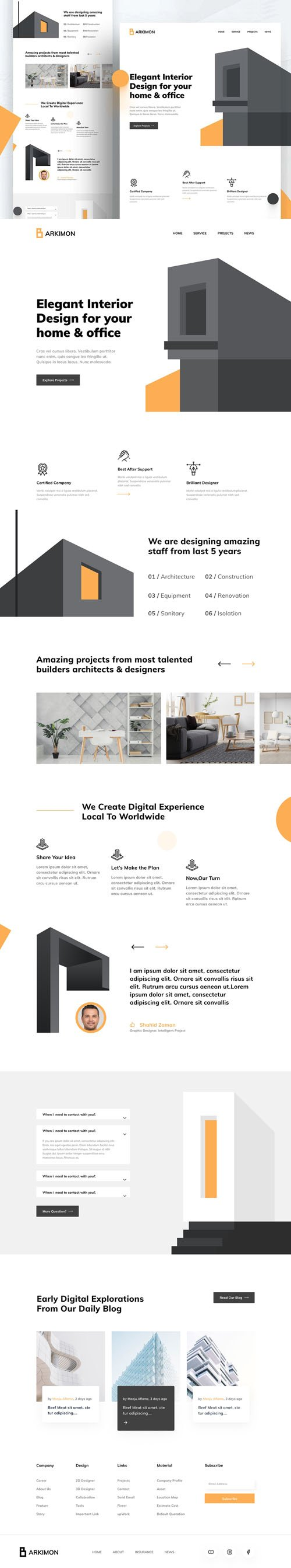 Architecture Figma Web Template