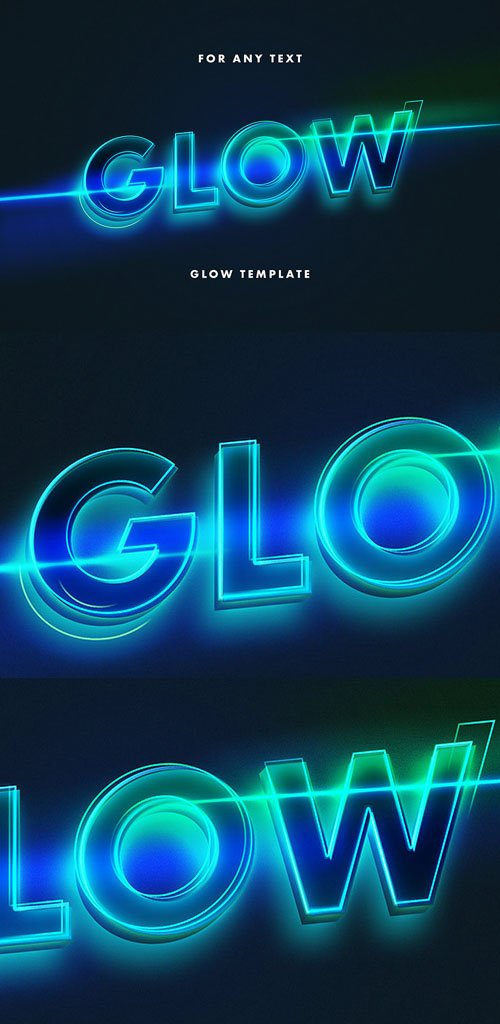 Glow Neon Photoshop Text Effect