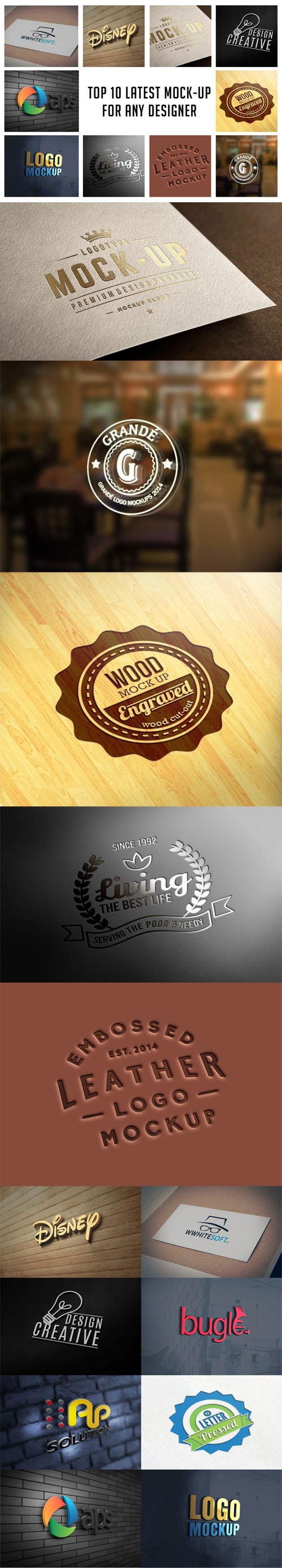 Top 10 Logo PSD Mockups Collection