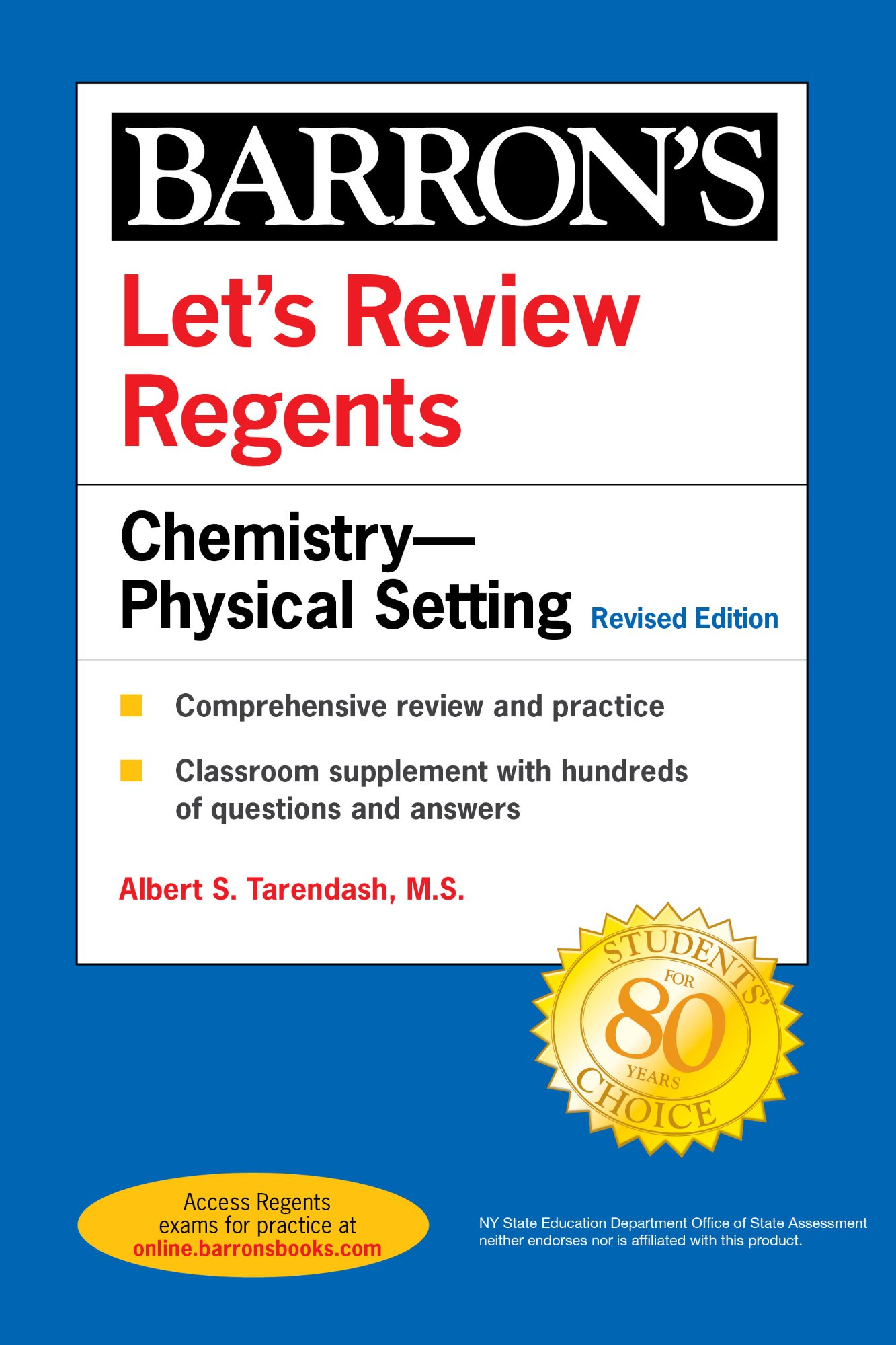 Let's Review Regents: Chemistry—Physical Setting (Barron's ...