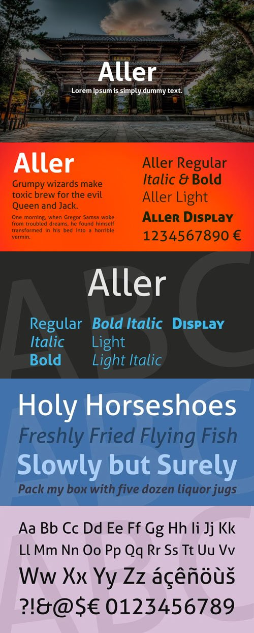 Aller - Sans Serif Font Family [7-Weights]