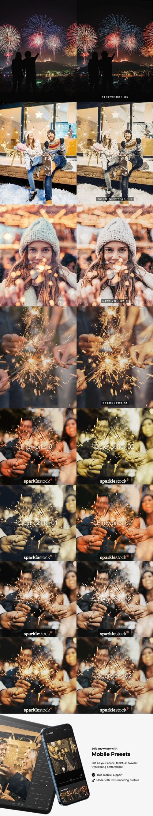 New Year Lightroom Presets & LUTs