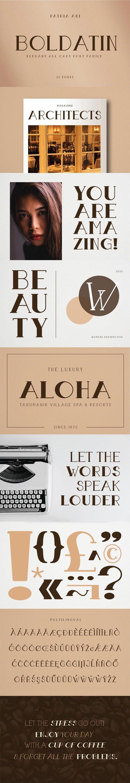 Boldatin - Elegant All Caps Serif Font