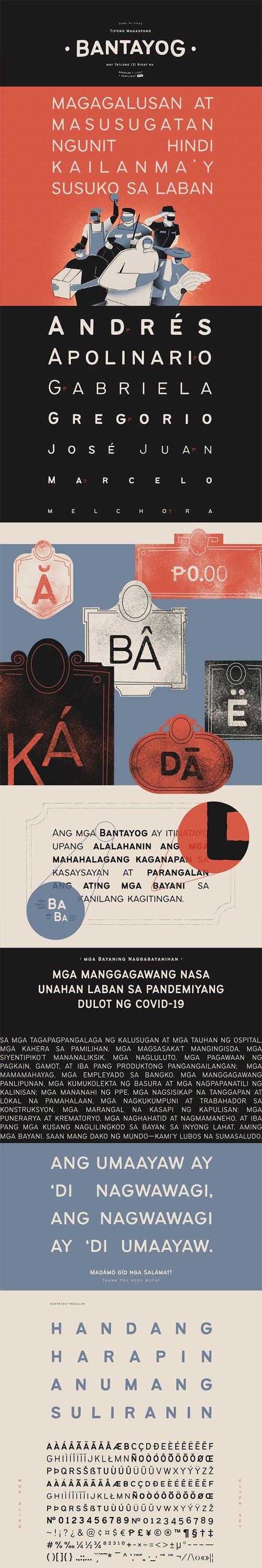 Bantayog - A Rough Display Typeface [3-Weights]
