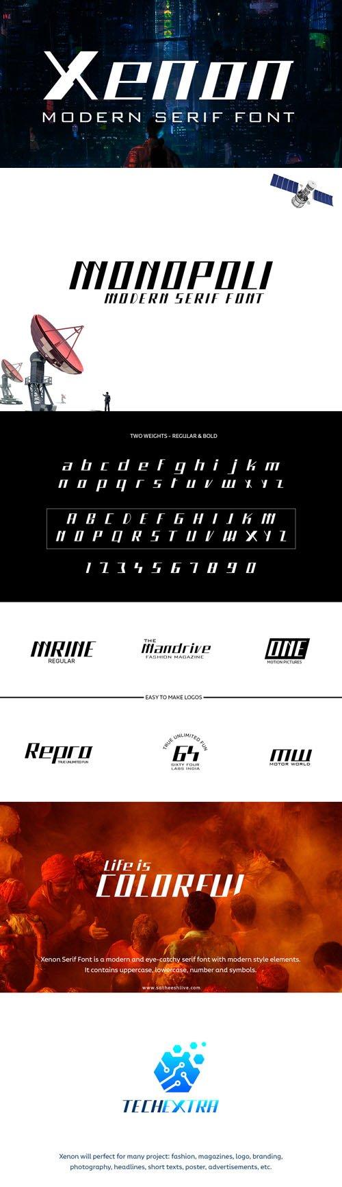 Xenon Modern Minimalist San Serif Font Family [3-Weights]