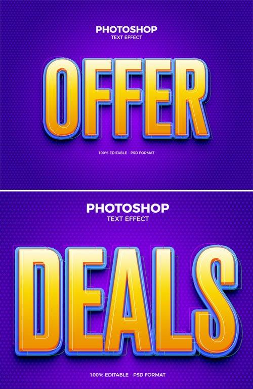 Offer Photoshop PSD Text Effect