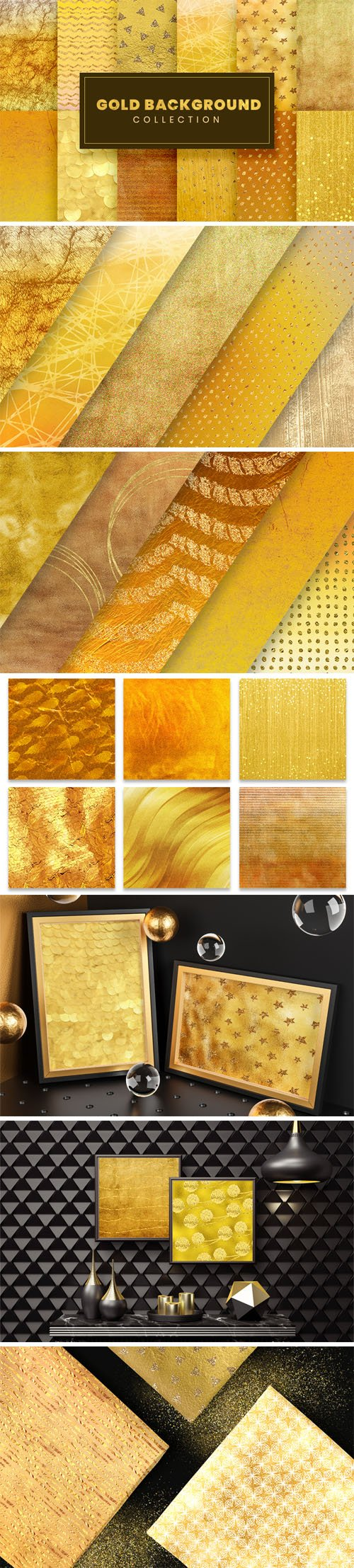 25 Gold Backgrounds Collection